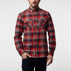 O'Neill LM Violator Flannel Shirt Ing D (O-651306-p_3910-RED AOP W_ WHITE)