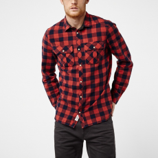 O'Neill LM Violator Flannel Shirt Ing D (O-651306-p_3950-RED AOP W_ BLUE)
