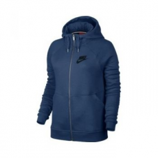 Nike Rally női kapucnis felső, Coastal Blue/Black, XL (803601-423-XL)