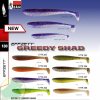 D.A.M EFFZETT - GREEDY SHAD 100MM - LEMON LIME/ SB=10