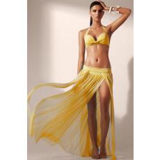Sárga színű Elegáns Maxi Szoknya