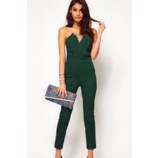 Elegáns zöld női overál