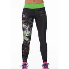 Fekete zöld yoga nadrág