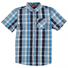 Kickers gyerek ing - Checked - Kickers Short Sleeve Checked Shirt Junior Boys