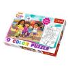 Dóra és barátai kétoldalú színezhető 40db-os Maxi puzzle