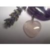 Rózsakvarc kis szív medál ( )