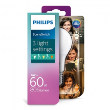 Philips Consumer LED bulb 8-60W A60 E27 827 FR ND SceneSwitch izzó