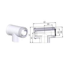 Tricox PPS/ALU Ellenőrző T 60/100 hűtés, fűtés szerelvény