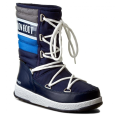 Moon Boot Hótaposó MOON BOOT - W.E. Quilted Jr Wp 34050700002 B.Navy/Royal/Argento