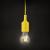 Phenom Szilikon függőlámpa E27 sárga (Függőlámpa)