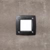 Fumagalli LETI 100 SQUARE süllyeszett panellámpa GX53 fekete test - opál üveg  3000K (Panellámpa)