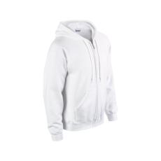 GILDAN cipzáros pulóver kapucnival, fehér
