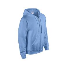 GILDAN cipzáros pulóver kapucnival, carolina kék