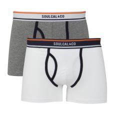 SoulCal Plain férfi alsónadrág fehér S