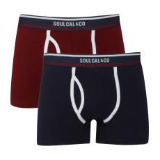 SoulCal Plain férfi alsónadrág tengerészkék L