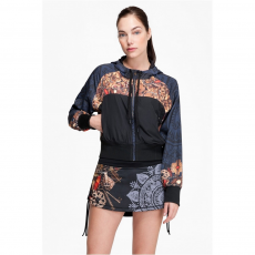 Desigual Sweat CD 3/4 Jacket G Pulóver,sweatshirt D (67s2sa6-p_2000-Negro)