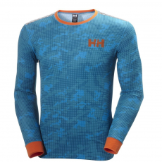 Helly Hansen HH Active Flow Ls Graphic Sport póló,aláöltöző D (48459-p_123 Winter Aqua)