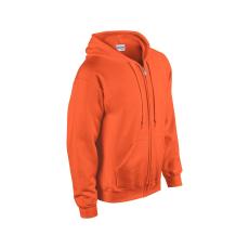 GILDAN cipzáros pulóver kapucnival, safety orange