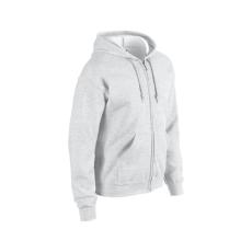 GILDAN cipzáros pulóver kapucnival, ash