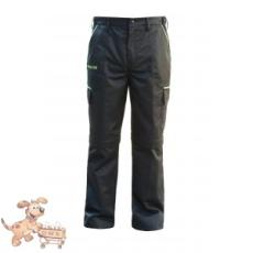 Julius-K9 K9 pamut nadrág, fekete-neon, cipzározható szárral - impregnált, - méret 34 (-től)