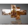 Byhome Digital Art Quatro vászonkép   1988Q Buddha Brown