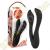 Jülie Szilikon kétágú vibrátor - fekete
