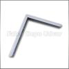 FDU Metall fali konzol Nehéz konzol 26cm Fehér