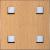 Locatelli Perforált lemez Laccato Hdf Quadro 11-45 381 Bükk 1400x510x4mm