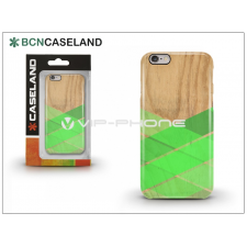 BCN Caseland Apple iPhone 6/6S hátlap - BCN Caseland Wood Stirpe Verde - green tok és táska