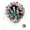 ". Golyóstoll, Crystals from SWAROVSKI®, fehér, 14cm""Elegante"", orgona lila kristállyal"