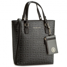 Tommy Hilfiger Táska TOMMY HILFIGER - Love Tommy Small Ns Tote Logo AW0AW03471 903