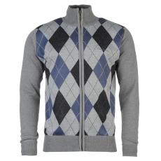 Pierre Cardin Férfi cipzáras kötött pulóver kék S
