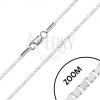 925 ezüst nyaklánc - fénylő szögletes elemek, delfinkapocs, 1,7 mm