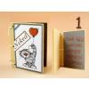 Szerelmes feliratos könyv hűtőmágnes, többféle mintával