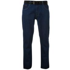 Pierre Cardin Férfi farmernadrág övvel kék 38W S