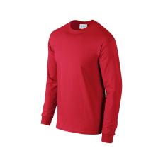 GILDAN hosszú ujjú környakas póló, piros