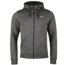 Nike Fundamentals férfi kapucnis cipzáras pamut pulóver sötétszürke L
