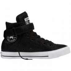 Converse Chuck Taylor All Star Hi Leather női tornacipő, Pearl Black / Black, 37.5 (553341C-880-7)