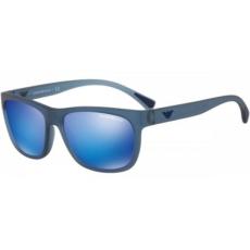 Emporio Armani EA4081 553525 MATTE TRANSPARENT BLUE GREEN MIRROR LIGHT BLUE napszemüveg
