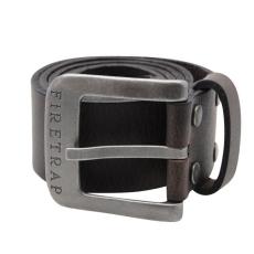 Firetrap férfi bőr öv - Firetrap Blackseal Logo Belt