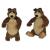 Simba Mása és a medve - Misa plüss medve 2-féle