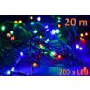 Karácsonyi LED világítás 20 m - színe, 200 dióda