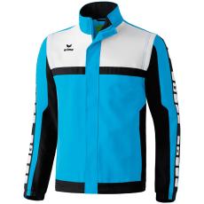 Erima 5-CUBES Jacket with detachable sleeves világos kék/fekete/fehér