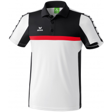 Erima 5-CUBES Polo-Shirt fehér/fekete/piros galléros poló