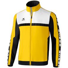 Erima 5-CUBES Presentation Jacket sárga/fekete/fehér melegítő felső