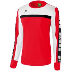 Erima 5-CUBES Sweatshirt piros/fehér/fekete pulóver