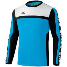 Erima 5-CUBES Training Sweater világos kék/fekete/fehér pulóver