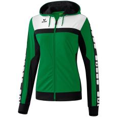 Erima 5-CUBES Training Jacket with Hood zöld/fekete/fehér zippes felső