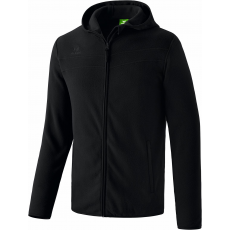 Erima Hooded Fleece Jacket fekete zippes felső