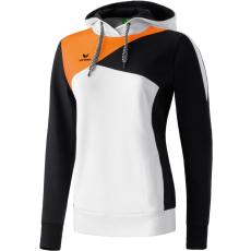 Erima Premium One Hoody fehér/fekete/neon narancs pulóver